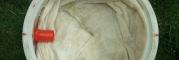 szétteritett vatta, kabátbélés anyag