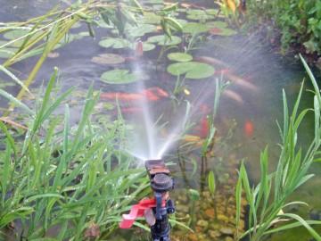 víz porlasztása, vízpótláskor