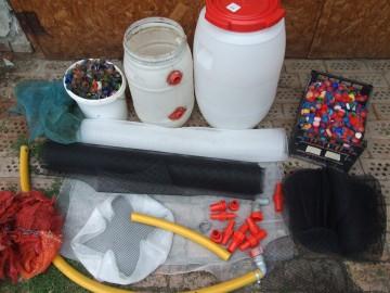 Dupla hordós házi tószűrő